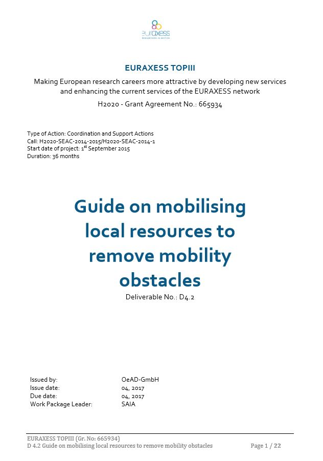 Guide on mobilising the local resources