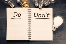 what you should and should not do