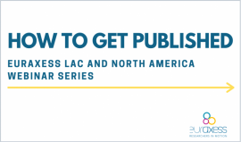 EURAXESS T&F How to Get Published webinar series logo