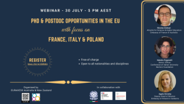 Image of (544208) PhD & Postdoc Opportunities in the EU with focus on France, Italy & Poland