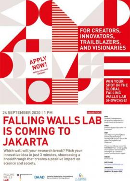 Image of (543486) Falling Walls Lab Jakarta 2020, a competition in partnership with EURAXESS