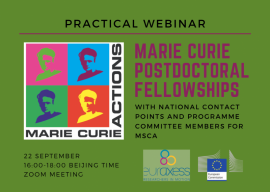 Image of (682264) MSCA Postdoctoral Fellowships: Practical Webinar to Make your Application Perfect