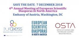Image of (334225) SAVE THE DATE: 4th Annual Meeting of European Scientific Diasporas in North America