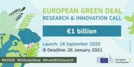 Image of (560843) European Green Deal Call with a €1 billion budget is now open!
