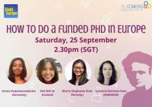 Image of (677473) How to do a funded PhD in Europe: Roundtable with Singaporean doctoral candidates
