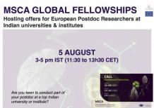 Image of (666641) MSCA-Global Fellowships Call: Hosting offers for European Postdoc Researchers at Indian institutions