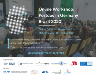 Image of (569930) Online Workshop: Postdoc in Germany - Brazil 2020, with EURAXESS participation