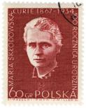 Post mark with Marie Curie picture