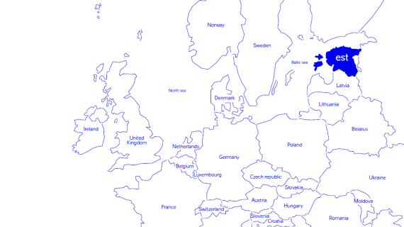 Europe map Estonia